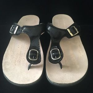 SAS Sanibel Womens Black Thong Sandals Size 8.5 M